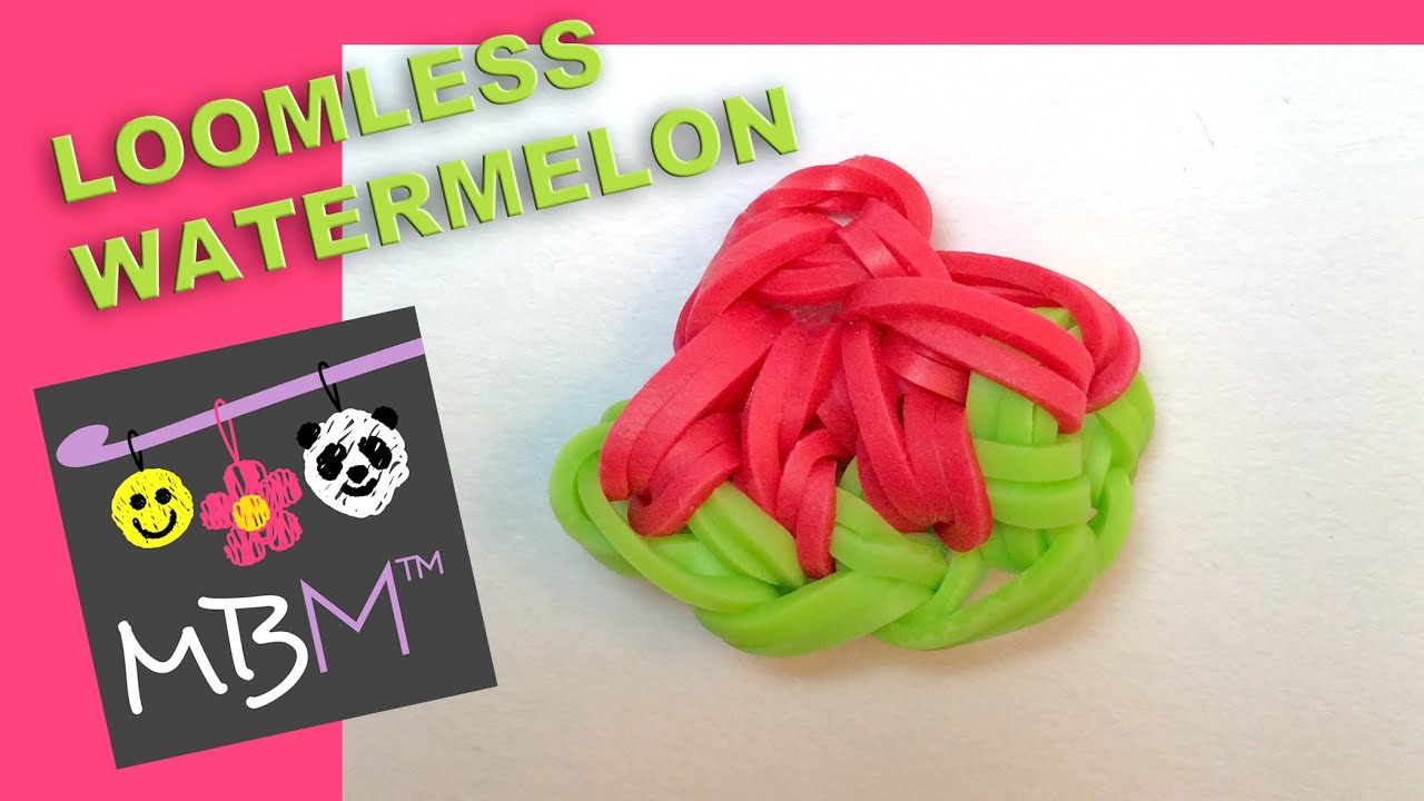 Rainbow Loom Fruit Off The Loom Watermelon Slice Charm