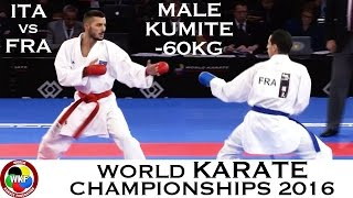 BRONZE MEDAL. Male Kumite -60kg. Agoudjil (FRA) vs Maresca (ITA). 2016 World Karate Championships