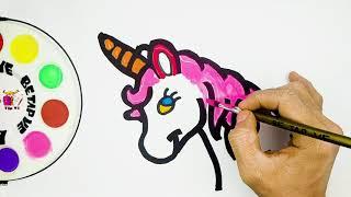 Vẽ và tô màu con kỳ lân