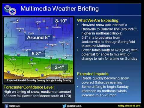 NWS Lincoln Multimedia Weather Briefing -- 1-30-2015 330 pm