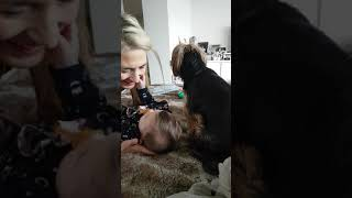 Jo Mallel     Adrienne with with Gigi and Pepino  26 08 2018