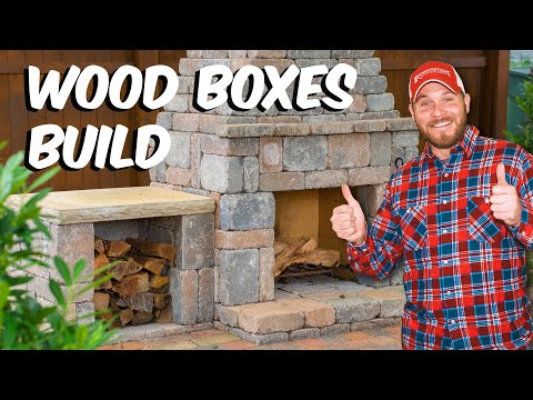 build with roman fireplace wood boxes diy build