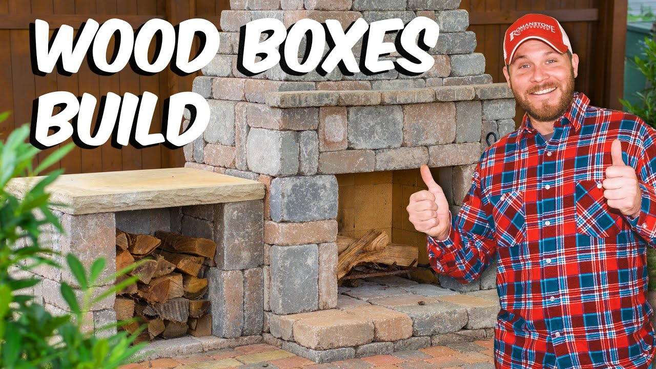 Build with Roman - Fireplace Wood Boxes DIY Build - YouTube