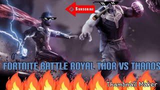 Fortnite Captain Thor Vs Thanos-Thanos Won