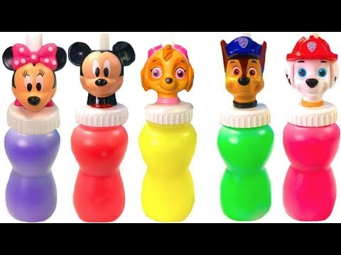 Thumbnail: Learn Colors with Paw Patrol Mickey Mouse Slime Surprise Colours | Fizzy Fun Toys