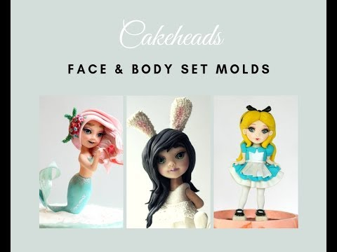 Using the Cakeheads Face & Body Molds for Figures on Cake