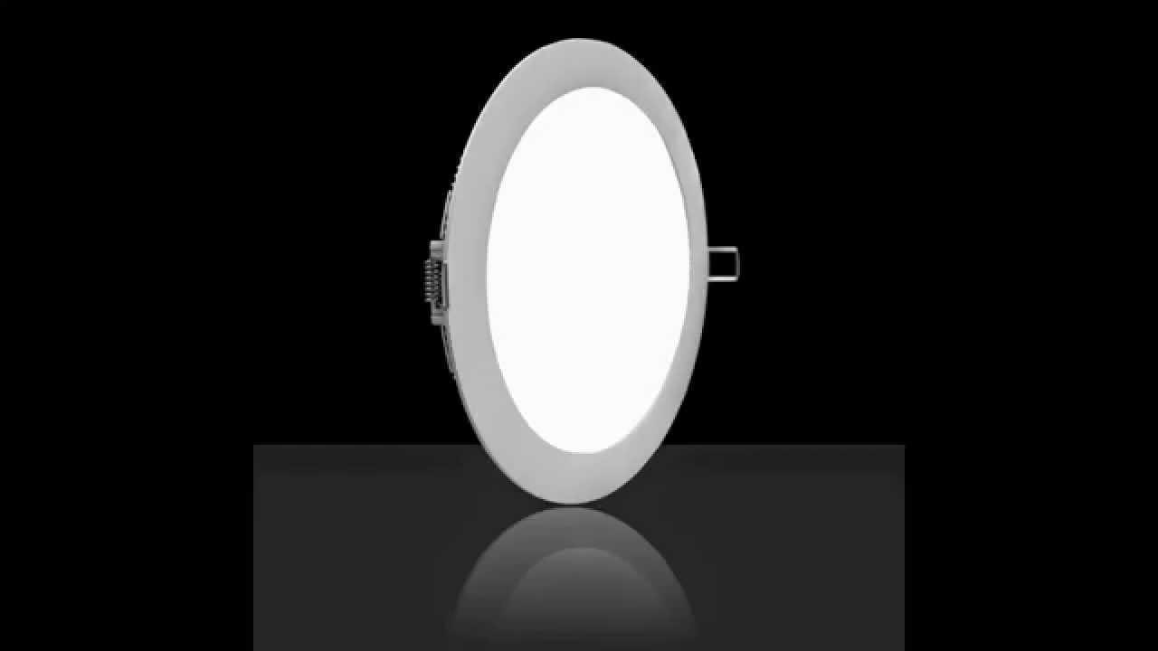 Led Panel Light Round Warm White 12w Ac85 265v 880lm 3200k