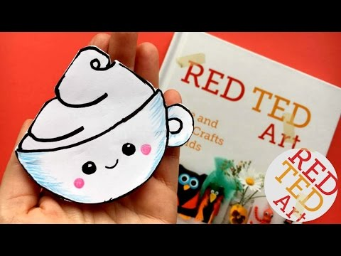 Easy Kawaii Coffee Cup Bookmark DIY - Kawaii Bookmark DIYs - Corner Bookmarks