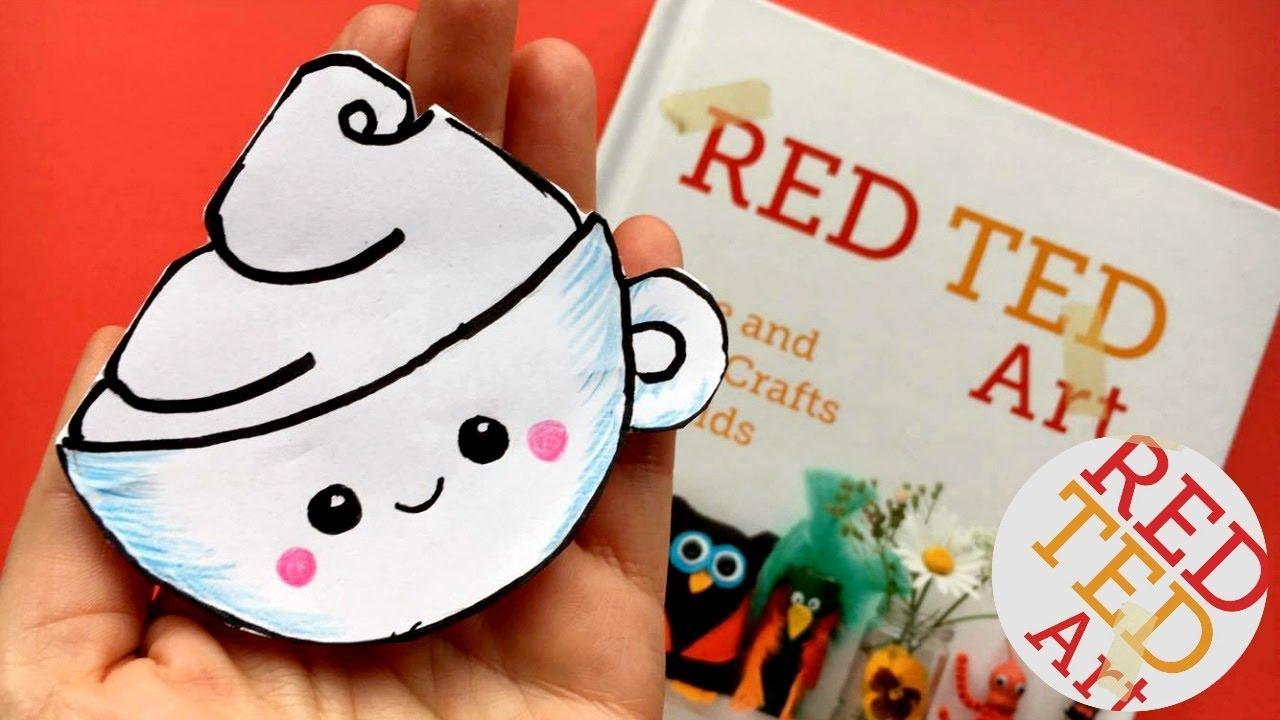 Easy Kawaii Coffee Cup Bookmark Diy Kawaii Bookmark Diys