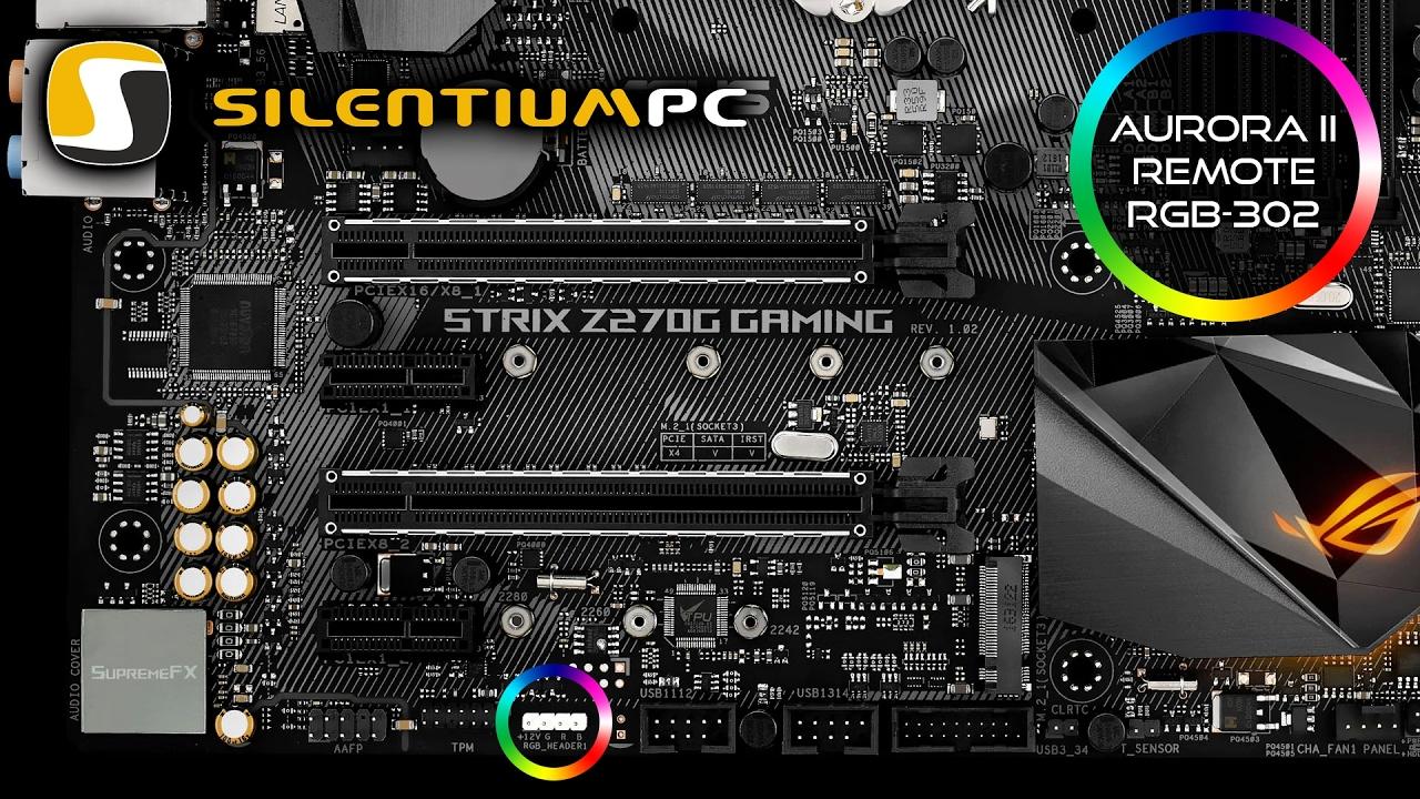 SilentiumPC Aurora II Remote RGB-302 - podłączenie do płyty głównej Asus z  systemem oświetlenia Aura