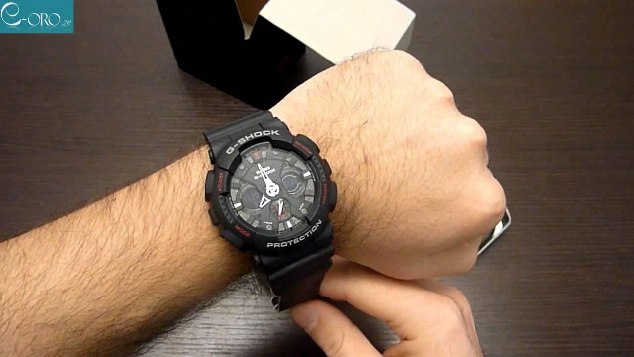 3d845baaae1 CASIO G-Shock Mens Watch GA-120-1AER - E-oro.gr - YouTube