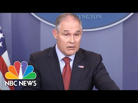EPA Head Scott Pruitt Refuses To Answer If Donald Trump Believes In Climate Change | NBC News