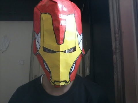 How to make an easy paper ironman helmet (mk 85)