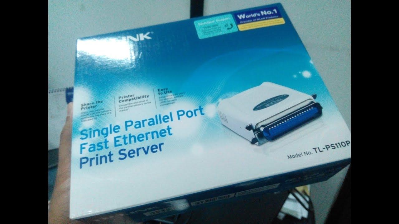 Cara setting print server TP-LINK PS110P - YouTube