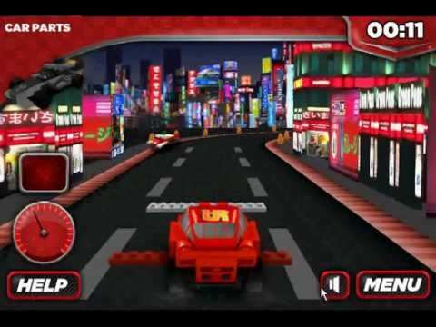 Lego Cars Lighting Mcqueen Lego Race Cars Japan Track Youtube