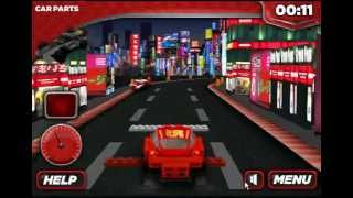 Lego Cars 2 LIghting McQueen -Lego race cars 2 - Japan Track