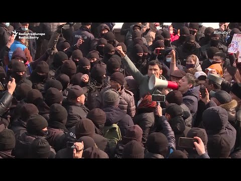 Kazakh Police Crack Down On Protests