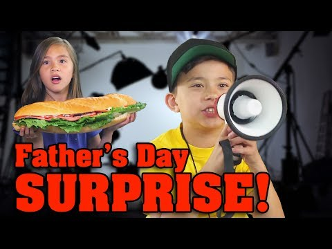 LIGHTS, CAMERA, ACTION!!! Father's Day Surprise!