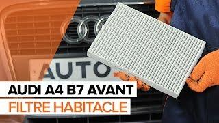 Montage Filtre d'Habitacle AUDI A4 Avant (8ED, B7) : vidéo gratuit