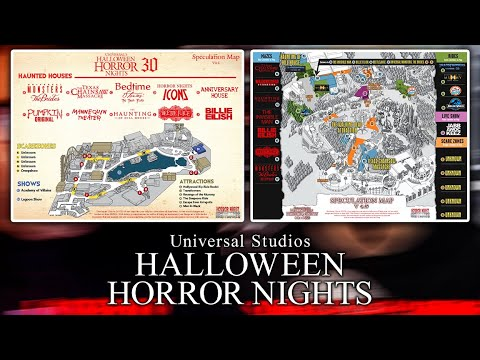 Halloween Horror Nights Hollywood 2020 Maze Map HHN 2020 Speculation Maps Honest Thoughts   Horror Nights