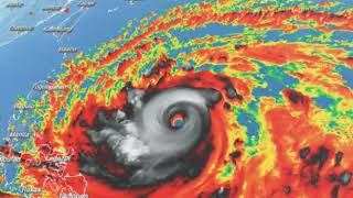 super typhoon Mangkhut, category 5 hurricane about to hit the Philippines