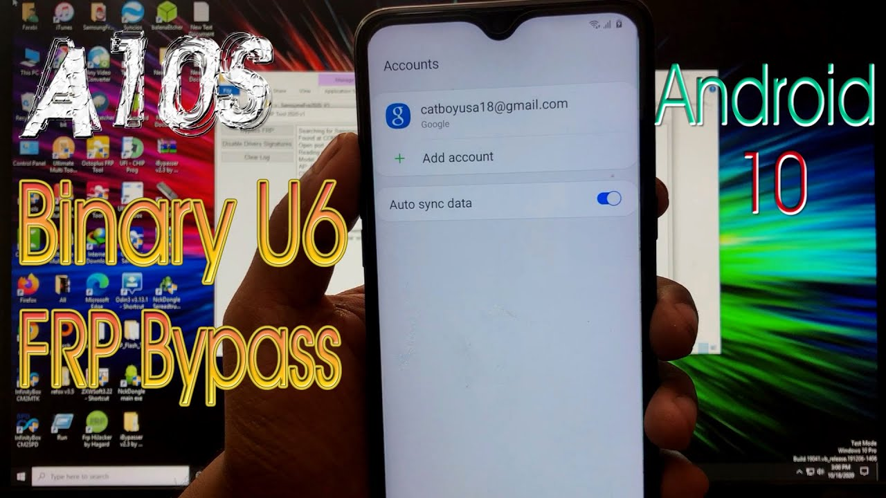 Samsung A10S [Binary U6] FRP BYPASS WITH EASY FIRMWARE FRP BYPASS TOOL,Android 10.0,NEW 2020
