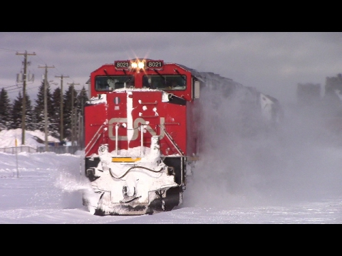 Thumbnail: Three Major Blizzards Hit Moncton in a Week! Winter Railfanning at it's Finest (Feb 2017)