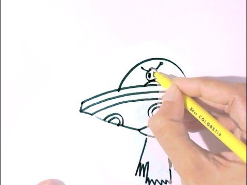 How To Draw Ufo In Easy Steps For Children Kids Beginners Youtube