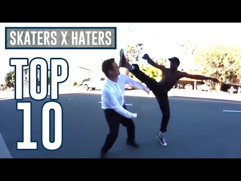 TOP 10 SKATERS VS HATERS