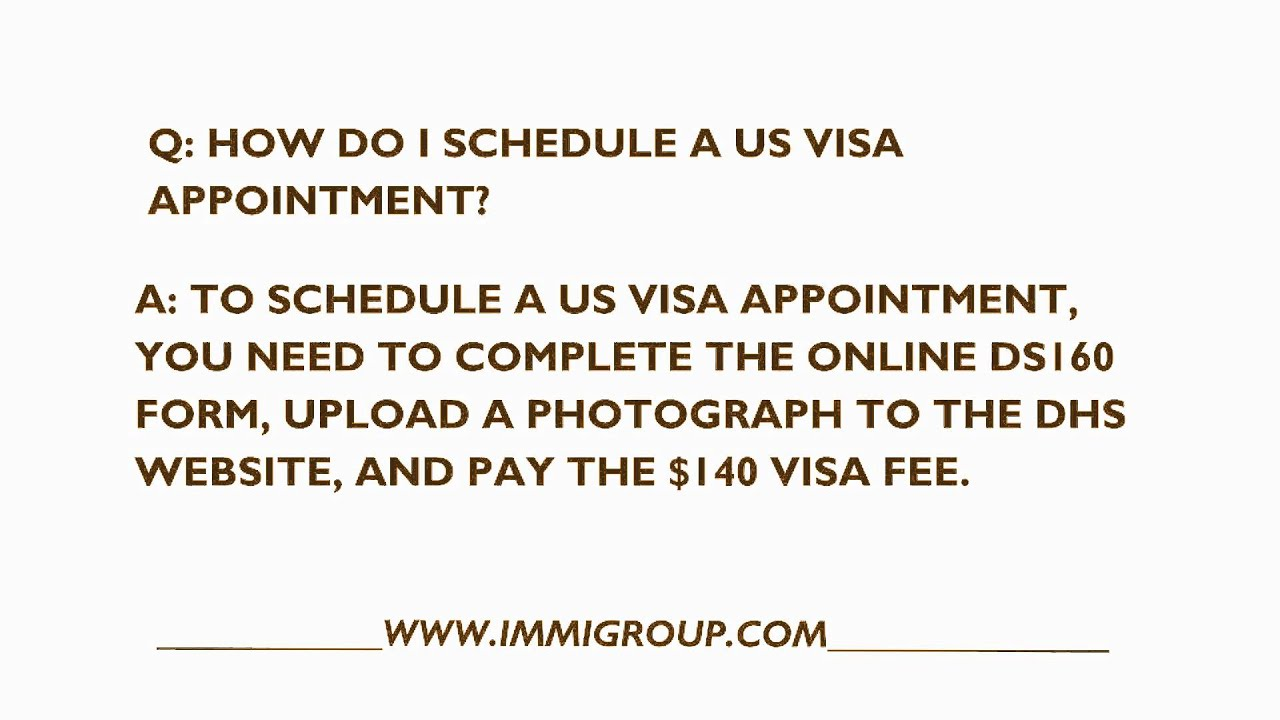 How Do I Schedule A US Visa Appointment?