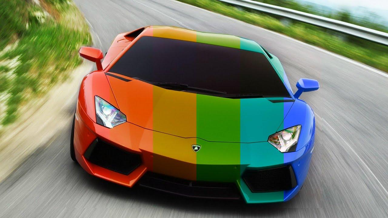 lamborghini aventador red to rainbow youtube