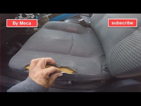 How to fix a torn car seat and repair the foam