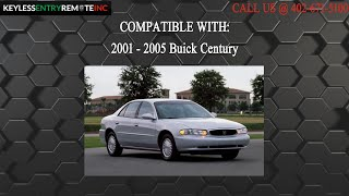 How To Replace Buick Century Key Fob Battery 2001 2002 2003 2004 2005