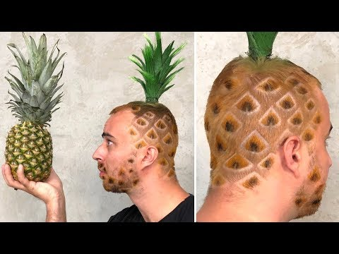 ROCK PAPER SCISSORS 7 - Funniest PINEAPPLE HAIRCUT