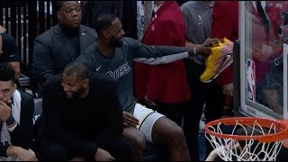 Jazz Announcers Called Out LeBron For Shoeless Celebration Without Knowing He Gave Them Away To Fans