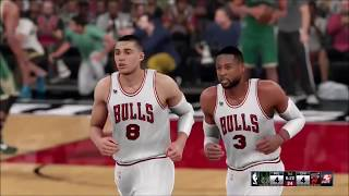 NBA 2K17|16 - Zach Lavine To The Bulls| Practice| 1st Game As a Bulls