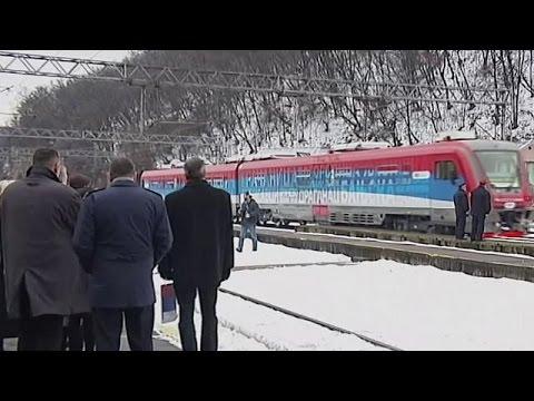 Un tren con la inscripción