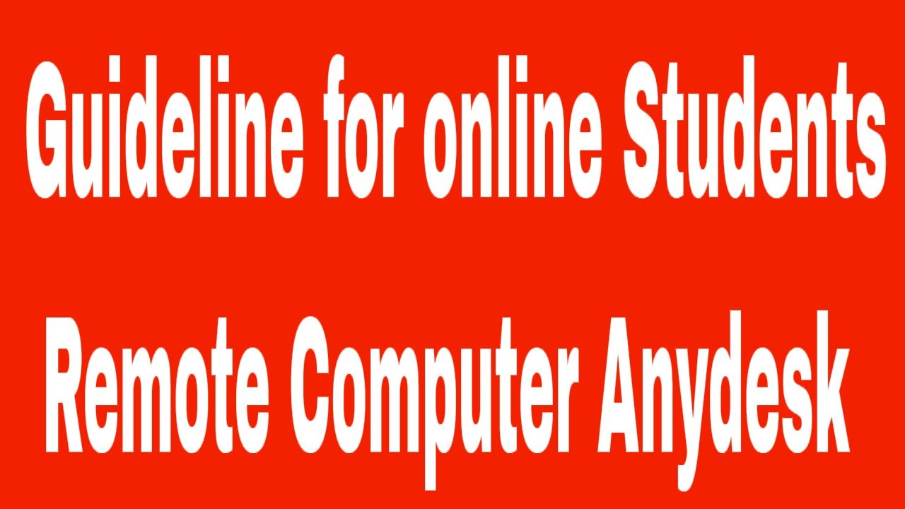 Remote Computer using Anydesk Software | Guideline for online Students #  Contact: 01764608434