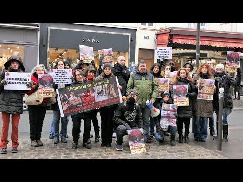 Manif anti-fourrure Zapa - Paris 07 janvier 2017