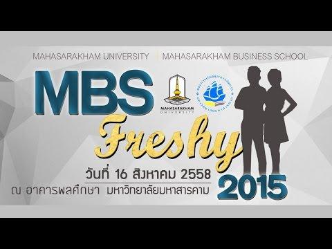 [Official] MBS Freshy 2015 - Mahasarakham University