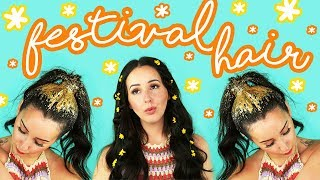 How To: 3 Festival Hairstyles! | by tashaleelyn