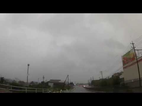 Driving in a Typhoon in Japan!