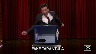 jimmy fallon touching mystery objects (funny moments)
