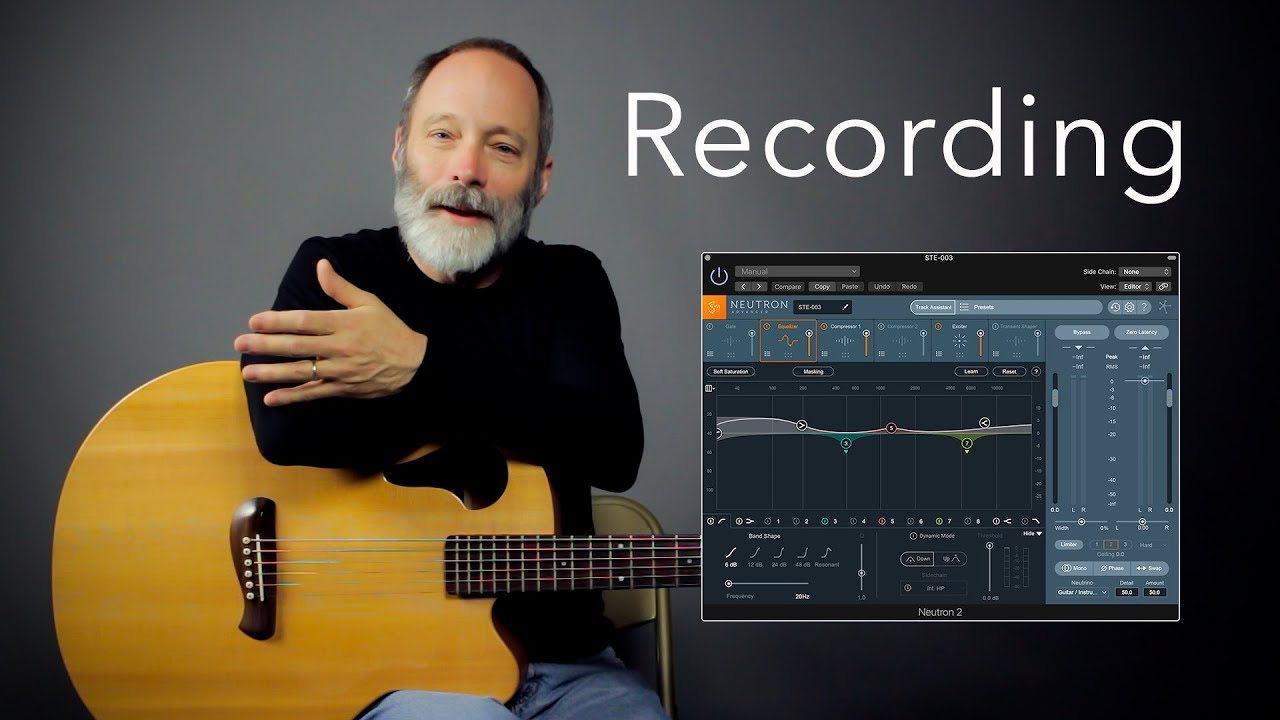 Ambient Baritone Guitar Recording Tutorial Zoom H4n Logic Pro X Youtube