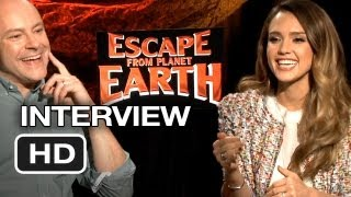 Escape from Planet Earth Interview - Rob Corddry & Jessica Alba (2013) - Animated Movie HD