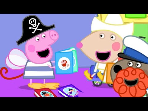 Peppa Pig English Episodes | Dress Up For Books with Mandy Mouse | Peppa Pig