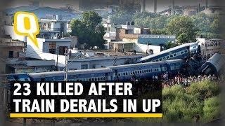 A day after Kalinga Utkal express derailed near Muzaffarnagar on Sa...