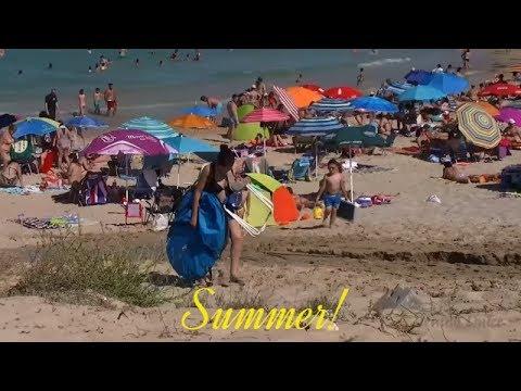On the beaches of Spain last summer