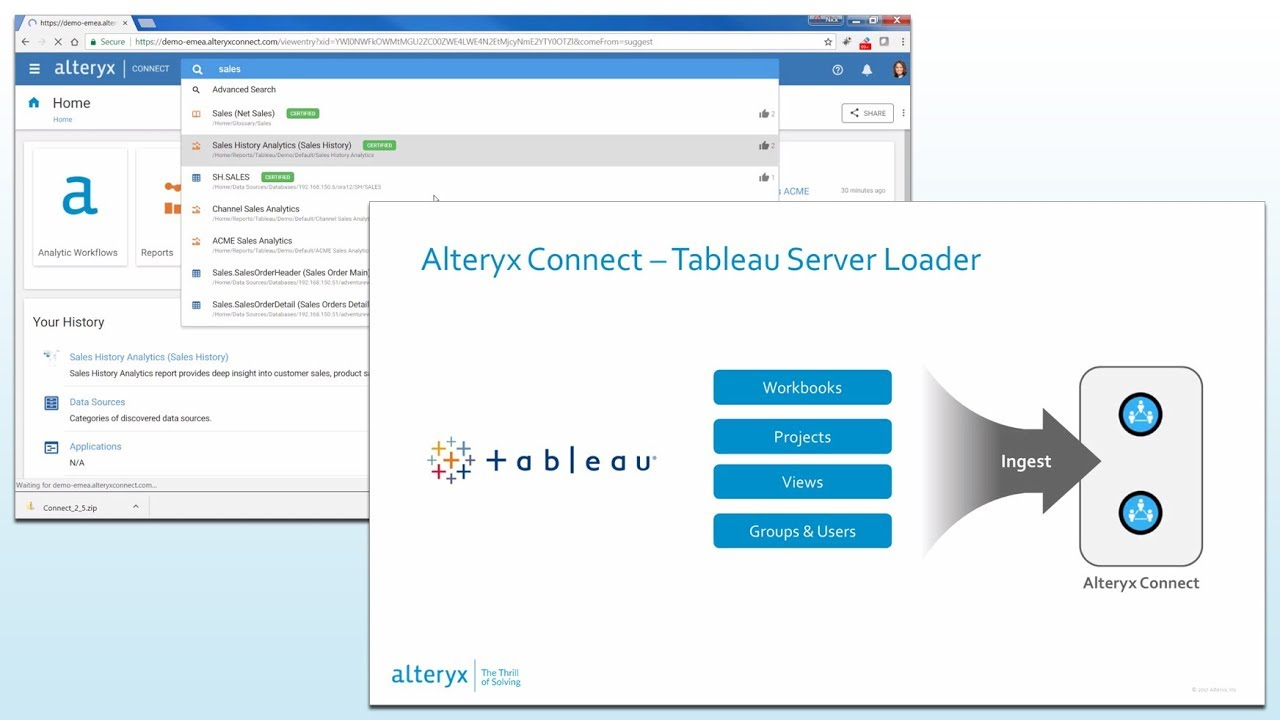 Alteryx Connect - Find the Information assets in your data
