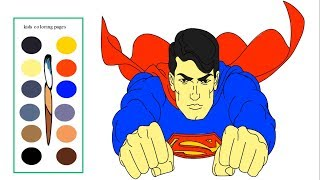 Superman Coloring Pages for Kids - How To Draw Superman Step By Step